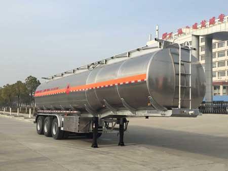 楚飞牌CLQ9400GRYBA型铝合金易燃液体罐式运输半挂车
